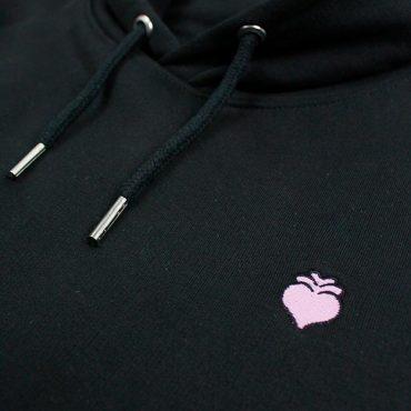 Herzradi – Hoodie – schwarz/rosa