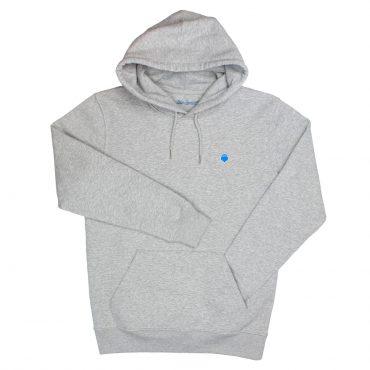 Herzradi – Hoodie – grau/blau