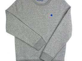 Crewneck – grau/blau Stick