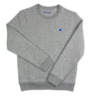 Herzradi – Crewneck – grau/blau